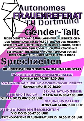 Flyer Sprechstunden Gender-Talk AFR